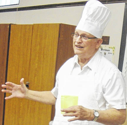 Gary Gandee, grandson of the late F. W. Gandee, gave the history of the bakery.