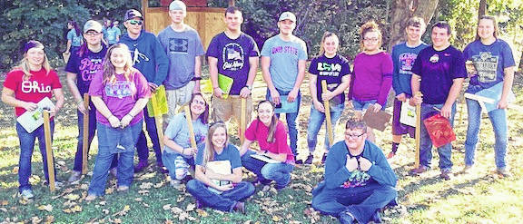 Highland FFA members competed in the county forestry contest.