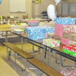 Shoeboxes collected for children overseas