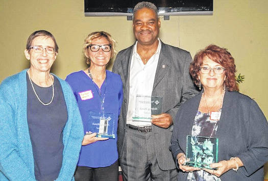 Delaware Mental Health & Recovery Services Board award winners, from left, are April Nelson, Courtnie Howell (Maryhaven), Ben McDay (Maryhaven) and Cindy Ison (Southeast Healthcare).