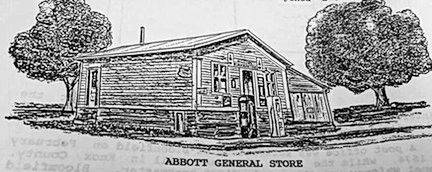 Abbott General Store was erected in 1880, at the northeast corner of Bloomfield. It served the town's residents for a century.