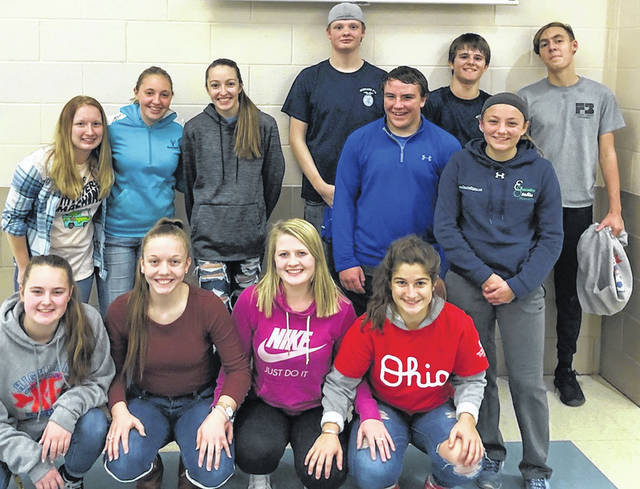 Members recently had the privilege to join a few other chapters at River Valley High School for a Leadership Night hosted by River Valley FFA and State FFA officers Mallary Caudill and Austin Becker. This fun night started off with activities lead by Mallary and Austin. Through these activities members learned the importance of going Above and Beyond and how to do so. We discovered our purposes as officers, members, students and family members, and how to be the best version of ourselves. After having pizza and chips we then played card games, dodgeball and basketball, and enjoyed traditional FFA line dancing. We met other people in FFA and reunited with old friends.
