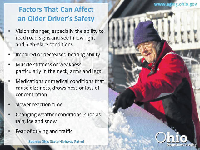 Courtesy photo Older drivers: Know your limits when out and about in harsh weather.