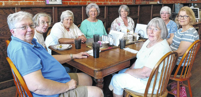 The Gals of '64 meet for lunch. They have gone through school together, graduating from Mount Gilead High School in 1964, and have kept in touch through the years.