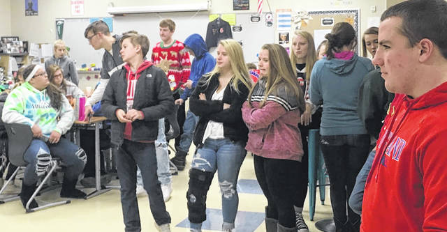 FFA's December meeting was held on Dec. 12. It included pizza, games and activities, corn-hole tournaments and gift exchanges.