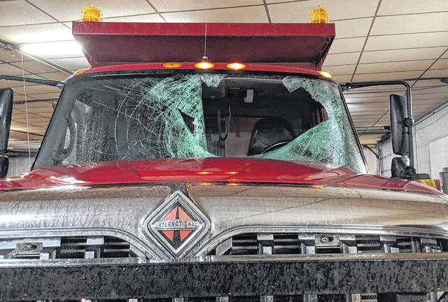 Here is a friendly reminder to clean your car off before you leave your residence or place of employment. Wednesday morning a Morrow County plow truck was struck by a chunk of ice that came off the top of someone's vehicle. The driver of the plow truck escaped with no injury, but the county is down one plow truck.