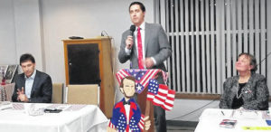 LaRose speaks at Lincoln Day Dinner