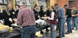 Cardington FFA serves farmers dinner