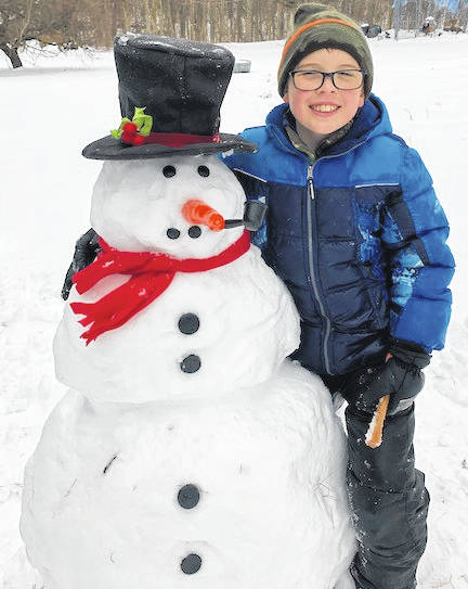 Jacob Bowen, who lives on County Road 213 in Marengo, built this snowman after the recent heavy snowfall in the area. His parents are John and Amy Bowen. If anyone has photos from the winter, send them in for consideration to be published. The email is aconchel@aimmediamidwest.com.