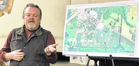 At a special meeting of the Chester Township Trustees on Jan 29, a presentation was given by Rockwell Bonecutter and Joe Clase, the land planning consultant hired by the Bonecutters to assist with planning the development.