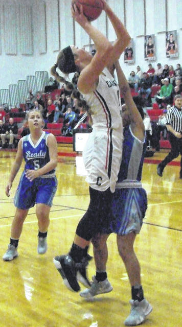 Cardington won their sectional basketball game with Bishop Ready on Saturday behind 27 points from Casey Bertke, who is pictured above.