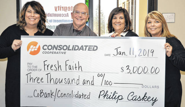 $3,000 to Fresh Faith, for security lights for the parking area.