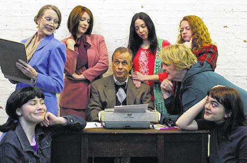 Seated, from left: Megan Campbell, Bruce Jacklin, Kathy Sturm and Karly Jacklin. Standing: Cate Blair-Wilhelm, Megan Evans, Abigail Tayse and Jennifer Walters.