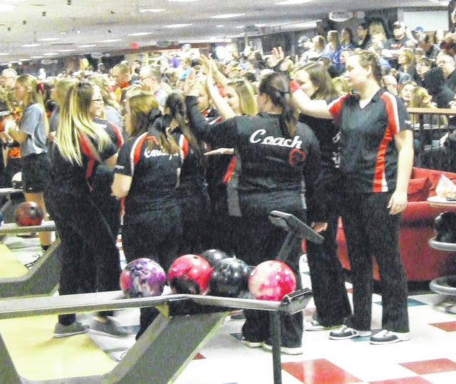 The Cardington girls' bowling team finished in 15th place at the Division II state meet held on Friday.