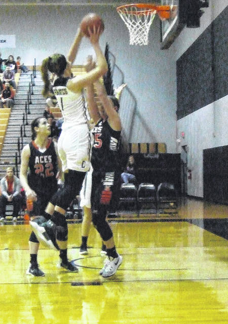 Casey Bertke led the Cardington Lady Pirates with 19 points in their district final loss to Amanda-Clearcreek Friday night.