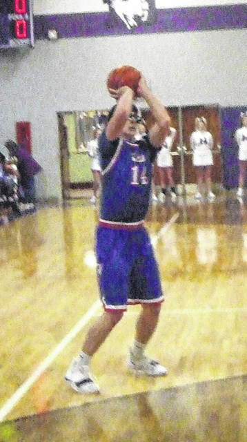 Highland's Chase Carpenter prepares to shoot a three-pointer in his team's tournament game against DeSales on Saturday.