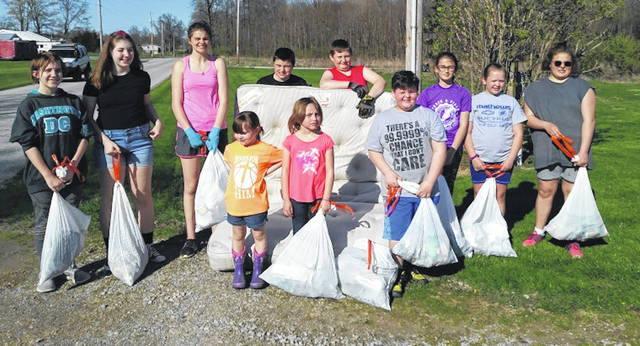 Country Guys and Gals 4-H Club collected trash last month.