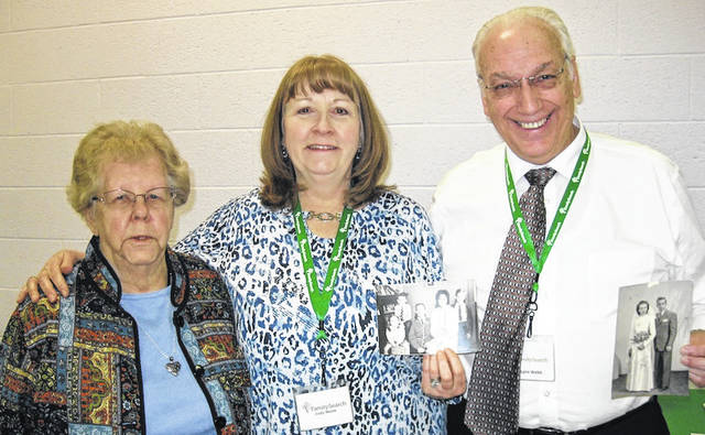 Pictured are, from left, Joan Myers, Judy Webb, and Lynn Webb.