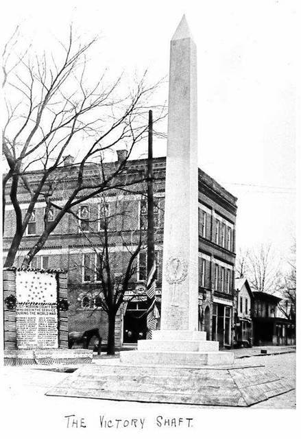 Dedication of the Victory Shaft in downtown Mount Gilead on Dec. 4, 1919.