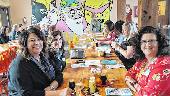 Women United of Morrow County enjoyed an evening of fun and fellowship at Hoof Hearted Brewery just south of Marengo on County Road 26.