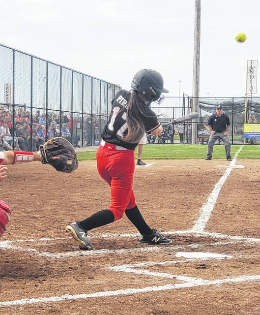 Cardington freshman Hailee Edgell drove in one run with a sacrifice fly and added a double to set up another score on Wednesday to help the Pirates to advance to Friday's regional final softball game with Galion.