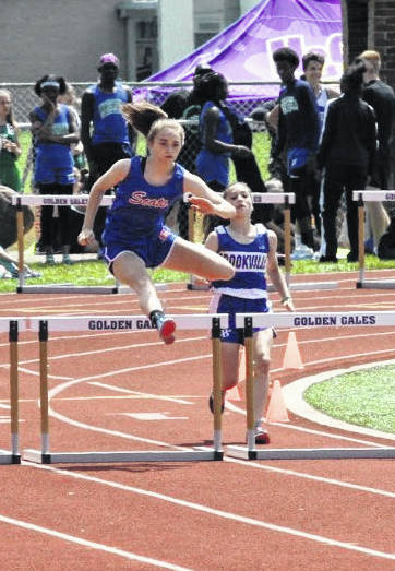 Highland eighth grader Juliette Laracuente recently took part in the middle school state track meet, where she placed in three events and earned middle school All-Ohio status. She took third in the 100-meter hurdles with a time of 15.82, was fourth in the 200-meter hurdles in 29.53 and also cleared 5' to finish eighth in the high jump. Laracuente possesses the school records in both hurdle events.