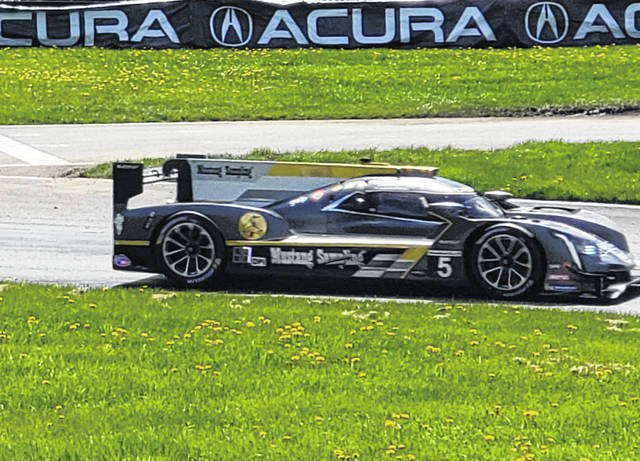 The Acura Sports Car Challenge team of Filipe Albuquerque and Joao Barboza finished in eighth place in Sunday's race.