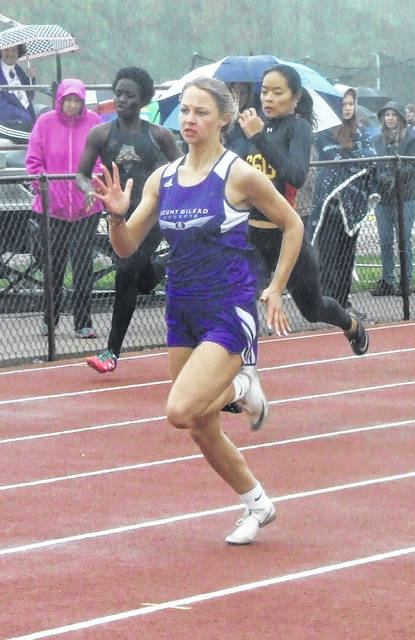 Mount Gilead's Jessica Brewer won two individual events and also was part of a first-place relay as both Indian track teams won their meets at Saturday's Mount Gilead Invitational.