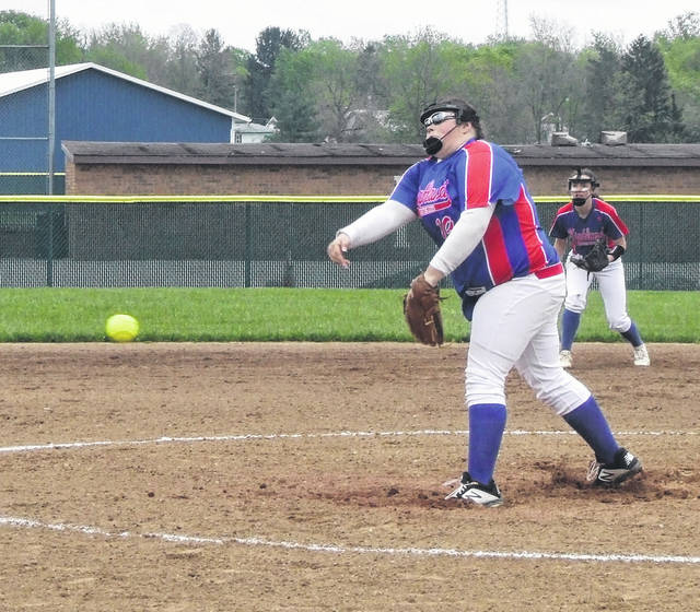 Lucy Smith pitched a shutout for Highland as the Scots dominated Olentangy Berlin by a 10-0 count on Friday in their tournament opener.