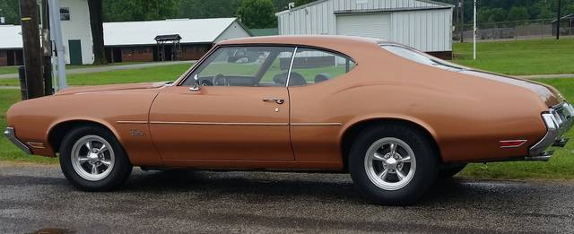 This 1971 Olds Cutlass, owned by Homer Helman of Cardington, was displayed during the 2019 Rod 'N Tiques car show.