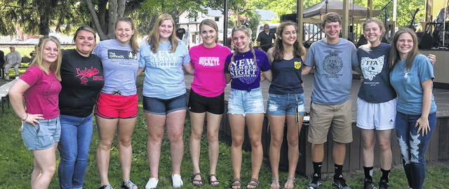 These Cardington FFA members worked the putt putt golf event at the Cardington Street Fair. They are, from left: Lexy Brook, Mikaeta Osborne, Tess Ruehrmund, Camrie Meyers, Grace Struck, Brooke Clapham, Isabelle Crum, Liam Warren, Hazel Jolliff and Cheyenne Skaggs.