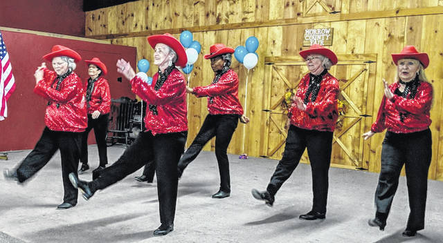 """Strut your Stuff"" dancers entertain during lunch last month. The ladies ranged in years from 71 - 81 and are from Morrow, Marion and Crawford counties."