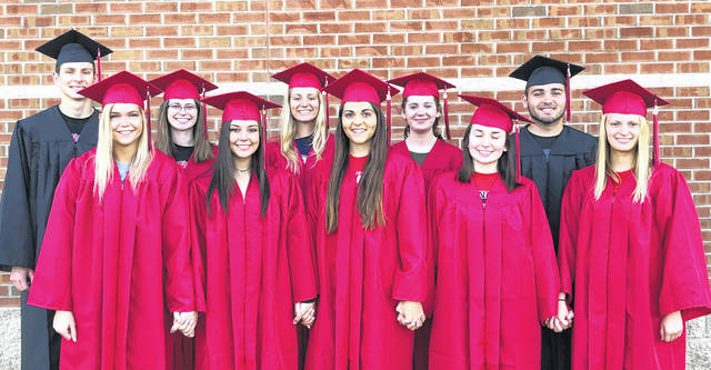 Cardington-Lincoln High School's top 10 seniors for 2019 are, back row, from left: Sebastian Stolpa, Katie Lester, Paige Clinger, Grace Patrick and Dylan Goodman. Front row: Gabrielle Snodgrass, Maci Morgan, Delisa Goodman, Haley Wheeler and Aubrey Curtis.