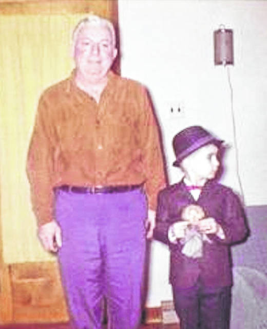 My dad, Anthony Conchel Sr., me and my Three Stooges puppet, Larry. I was 7.
