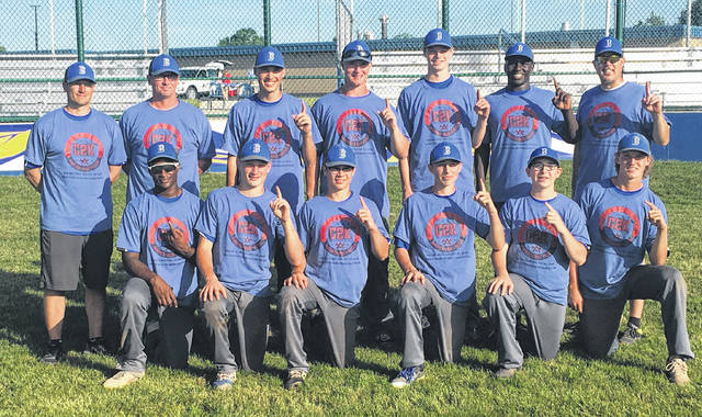 The Mid Ohio Bullets 15U team won the recent 12-team C2K Commitment to Kids tournament, going 5-0. In pool play, they defeated Wynford 14-5 and Colonel Crawford 10-1. They then won a rematch with Colonel Crawford in the quarterfinals by a 6-5 margin before defeating Ontario 19-10 in the semis and Seneca Sasquatch 13-3 in the finals. On the team are, back row (l-r): coaches Brad Bowman and Buck Workman, Ryan Chapman (Ontario), Luke Shepherd (Shelby), Jeremy Holloway (Shelby), Maxton Lower (Northmor) and coach Lance Holloway. Front row: Pierce Lower (Northmor), Blaine Bowman (Shelby), Marcus Cortez (Northmor), Griffin Workman (Northmor), Bohdi Workman (Northmor) and Marshall Shepherd (Shelby). Not pictured are Brody Symsick (Galion), Zach Pinkerton (Highland), Kaid Carpenter (Fredericktown) and coach Ron Shepherd.