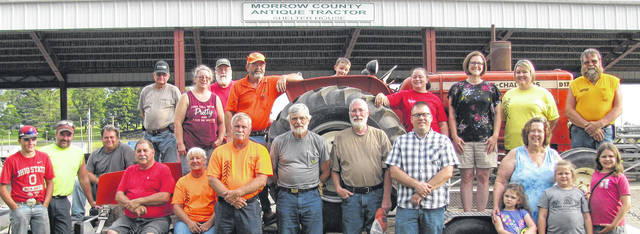 Officers, trustees and others working with Farm Days 2019 include, back row, from left: Kevin Young, and Dan Young, Nissa Jenkins, Ron Young, Larry Welch, William Jenkins on tractor seat. Missy DeForest, Heidi Scherpelz, Jonda Axthelm and Jon Axthelm. Front row: Mason Powell, John Powell, Nick Gerasimof, Deb Osborne, Mack Shepard, Jim Carroll,Todd Jenkins, Dave Scherpelz, Faith Jagger, with Elin Jagger, Willow Jagger and Mika Jagger.