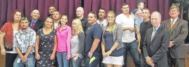 Graduates of drug court at ceremony July 12.