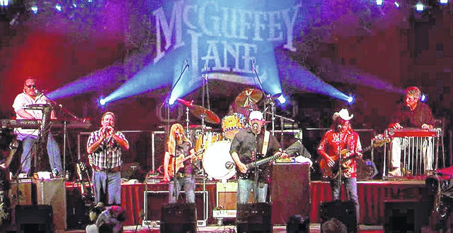 McGuffey Lane performs at Ariel-Foundation Park on Saturday, July 13.