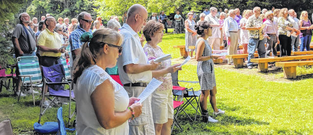 Baptists, Methodists and Presbyterians came together for the worship service at Mount Gilead State Park Sunday.