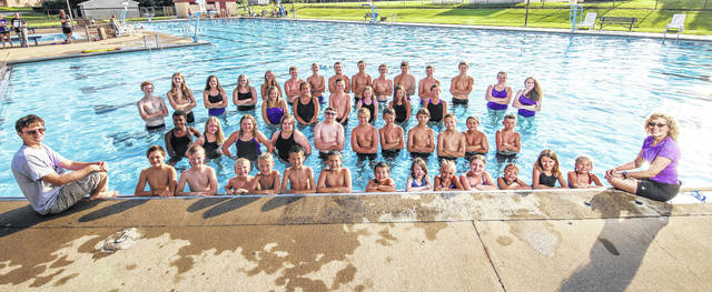 Courtesy Photo Pictured above is the Mount Gilead Barracudas summer swim team. Not all members were present for photo.