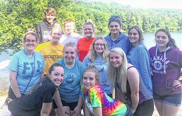 Highland FFA members at Ohio FFA Camp Muskingum.
