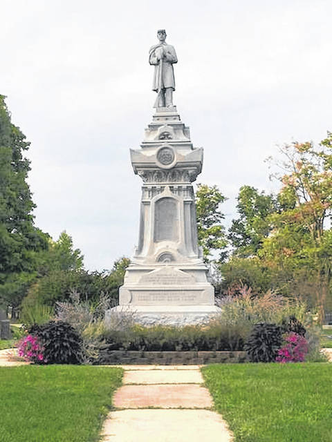 The Soldier's Monument in Glendale Cemetery is deteriorating. The Cemetery Walk is helping to raise funds for its repair.