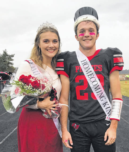 The 2019 Cardington-Lincoln High School Homecoming King and Queen, Brydon Ratliff and Grace Struck.