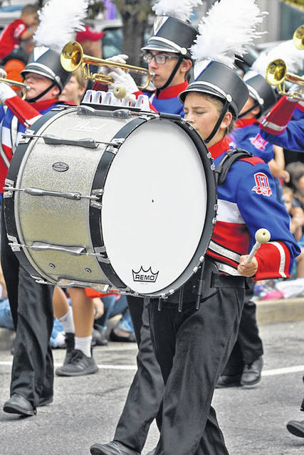 Mount Gilead, Highland and Northmor bands performed in the parade.