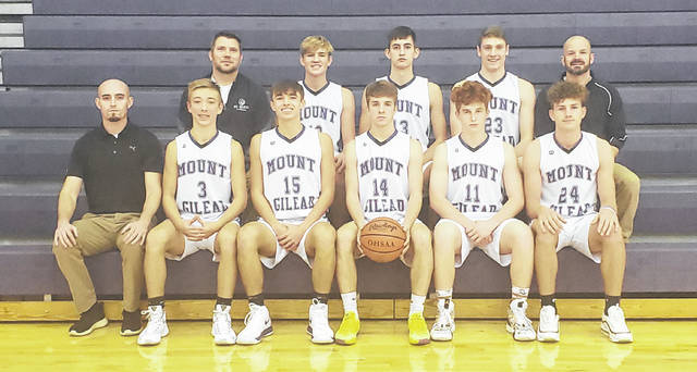 Rob Hamilton | Morrow County Sentinel Mount Gilead's boys' basketball team is pictured above.
