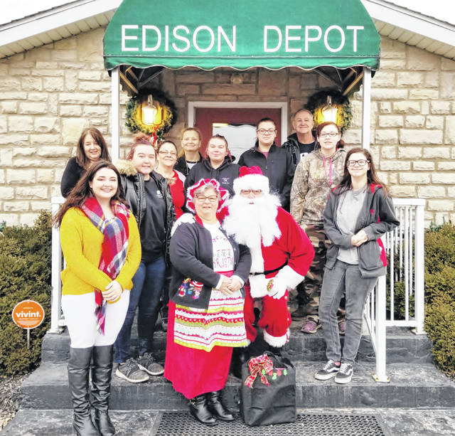 Santa and Mrs. Claus will visit the Edison Depot Restaurant again on Saturday, Dec. 14 from 9 a.m-1 p.m. Edison Depot, Joe's True Value, Legacy Bar & Grill, JFS Entrance D, The End Zone and Sheriff's office are locations where you can drop of toys for the toy drive.