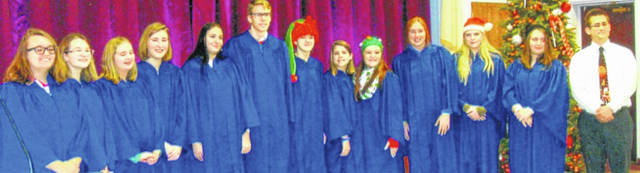 Highland High School's Symphonic Choir performed for the Morrow County Retired Teachers Association.