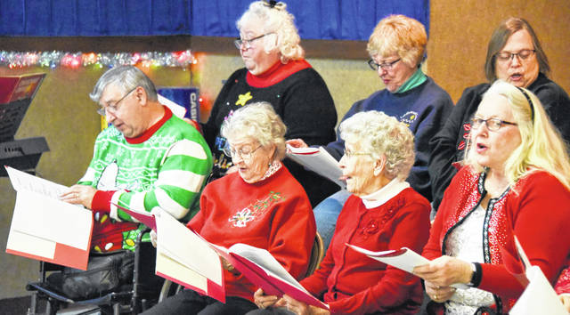 Morrow County Seniors sing during Christmas in Cardington.