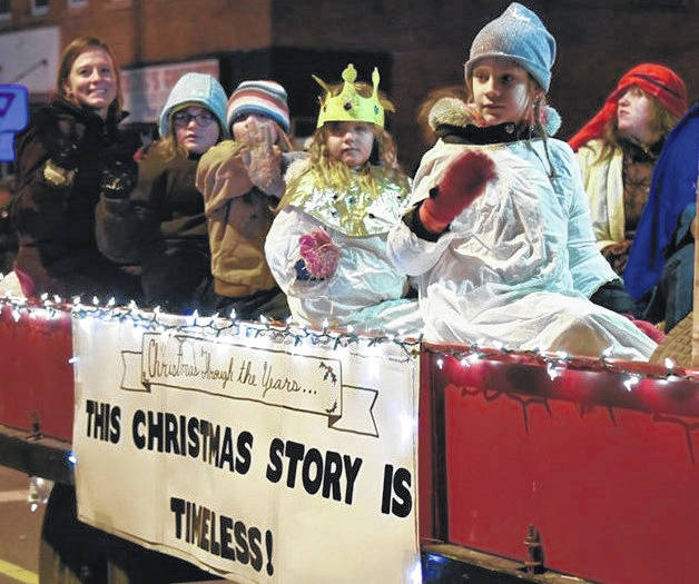 One of the many floats at the Christmas Parade last Friday night, sponsored by the Morrow County Chamber of Commerce.
