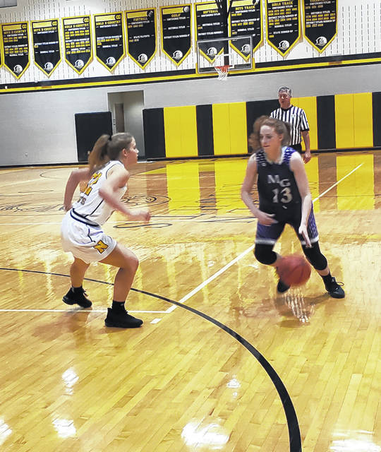 Rob Hamilton | Morrow County Sentinel Mount Gilead's Maddie Fitzpatrick reached the 1000-point mark in her team's 59-28 win at Northmor Wednesday.